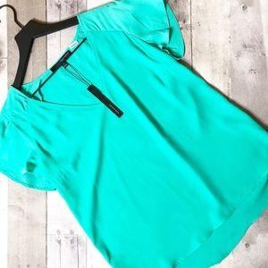 Harve Benard Jewel Green Blouse Size M NWT